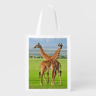 Two Giraffes Reusable Grocery Bag