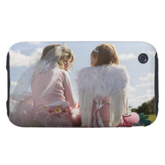 Two girls (7-9) dressed as angel and fairy iPhone 3 tough cases