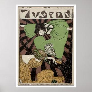 Two Girls - Art Nouveau Print