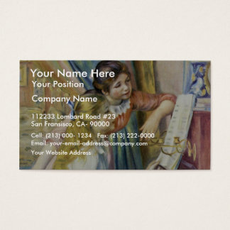 Two Girls At The Piano,  By Pierre-Auguste Renoir Business Card