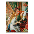 Two Girls at the Piano by Renoir Card