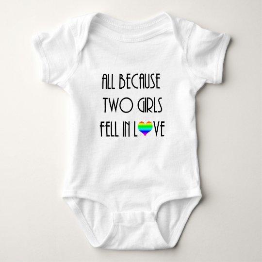 Two Girls Fell in Love Baby Bodysuit