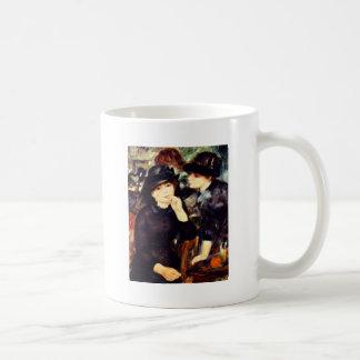 Two Girls in Black Classic White Coffee Mug