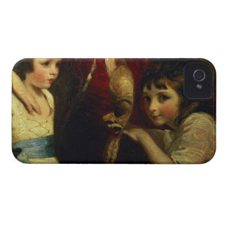 Two Girls, One Playing with a Mask, detail from th iPhone 4 Covers