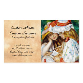 Two Girls Reading Pierre Auguste Renoir painting Pack Of Standard Business Cards