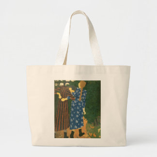 Two Girls Walking Jumbo Tote Bag