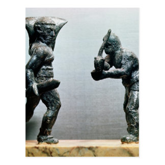 Two gladiators in combat postcard