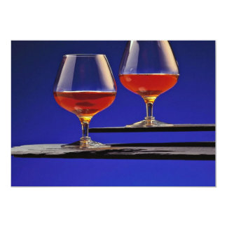 Two glasses filled with Brandy Personalized Invite