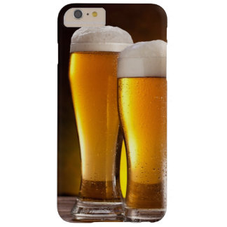 Two glasses of beers on a wooden table barely there iPhone 6 plus case
