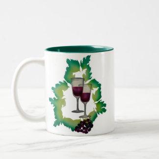 Two Glasses of Red Wine Mug