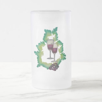 Two Glasses of Red Wine Mugs