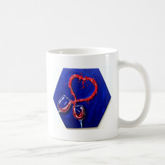 Two glasses, One heart Basic White Mug