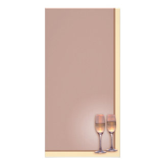 Two Glasses Photo Card Template