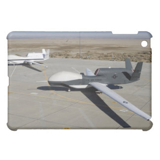 Two Global Hawks parked on a ramp iPad Mini Case