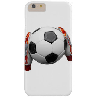 Two goal keepers gloves holding a football barely there iPhone 6 plus case