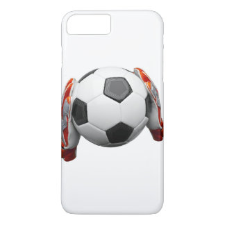 Two goal keepers gloves holding a football iPhone 8 plus/7 plus case