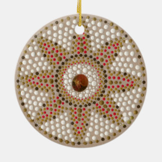 Two gold meditation mandalas hand-painted ornament
