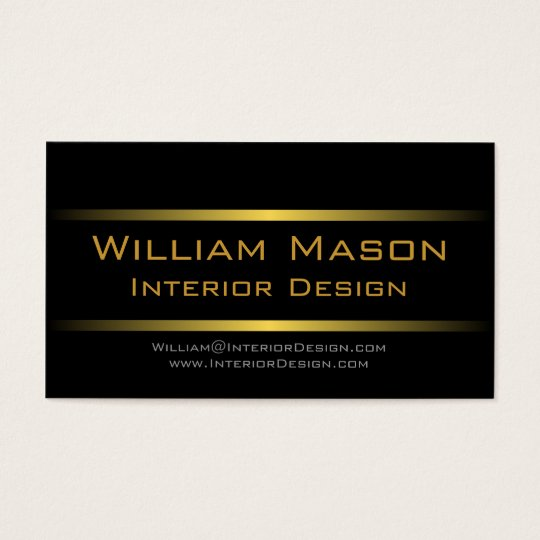 Two Gold Stripes Professional Business Card