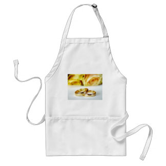Two Gold Wedding Rings Apron