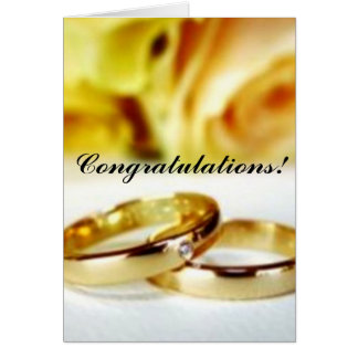 Two Gold Wedding Rings Greeting Card