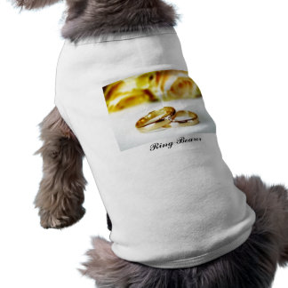 Two Gold Wedding Rings Doggie T-shirt