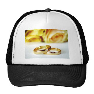 Two Gold Wedding Rings Trucker Hat