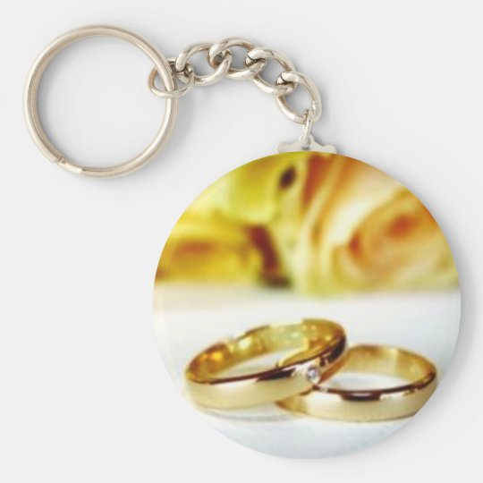 Two Gold Wedding Rings Key Ring