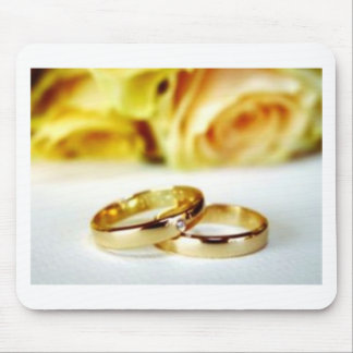 Two Gold Wedding Rings Mousepads
