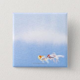 Two Goldfish 15 Cm Square Badge