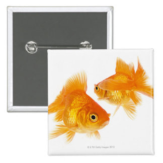 Two Goldfish Crossing Each Other 15 Cm Square Badge