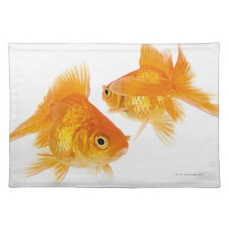 Two Goldfish Crossing Each Other Place Mat