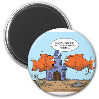 Two Goldfish--Friendship 6 Cm Round Magnet