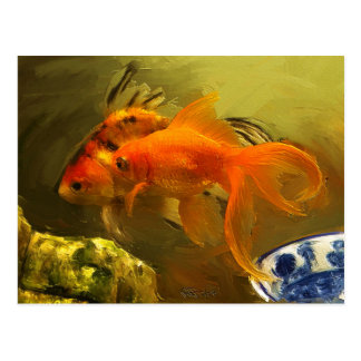 Two Goldfish Postcard