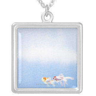 Two Goldfish Silver Plated Necklace
