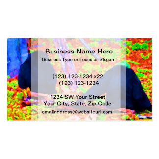 two gorillas sitting backs bright colored blobs.jp business cards