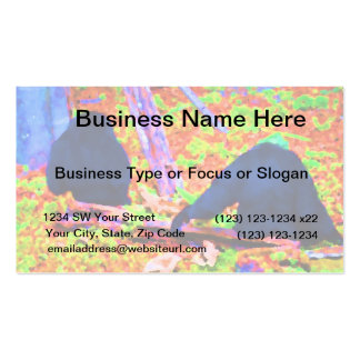 two gorillas sitting backs bright colored blobs.jp business card template