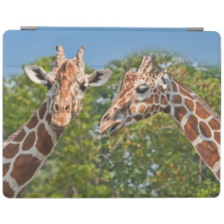 Two Gossiping Giraffes iPad Cover