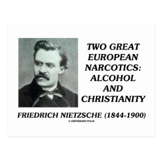 Two Great European Narcotics Alcohol Christianity Post Cards