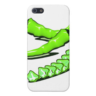 Two Green Chili peppers one cut up iPhone 5 Cover