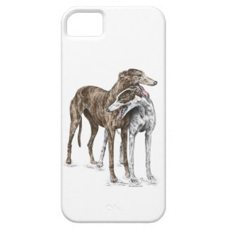 Two Greyhound Friends Dog Art Barely There iPhone 5 Case