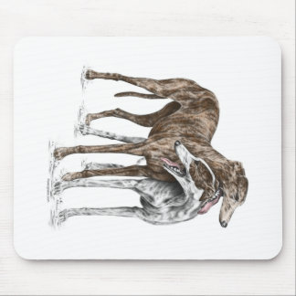 Two Greyhound Friends Dog Art Mouse Mat