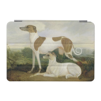 Two Greyhounds in a Landscape (oil on canvas) iPad Mini Cover