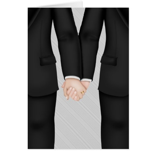 Two Grooms, Gay Wedding Congrats Greeting Cards