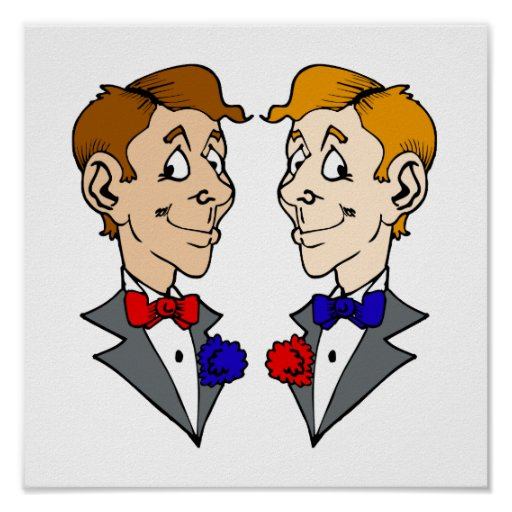Two Grooms Heads Poster