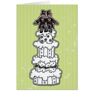 Two Grooms on Wedding Cake Greeting Card