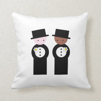 Two grooms one caucasian cushion