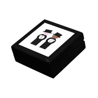 Two grooms one caucasian gift box