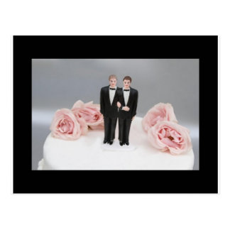 Two Grooms Postcard