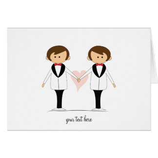 Two Grooms Wedding Cards
