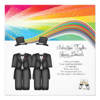 Two Grooms Wedding Personalized Invites